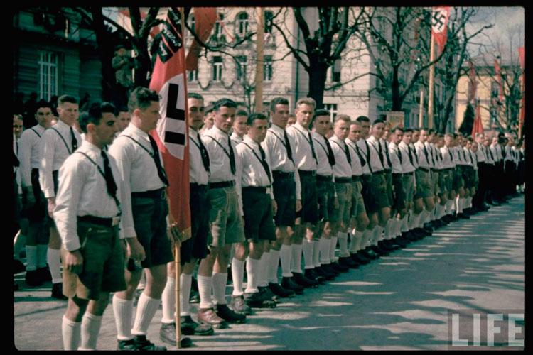 Австрийские фашисты готовятся к параду в честь аншлюса