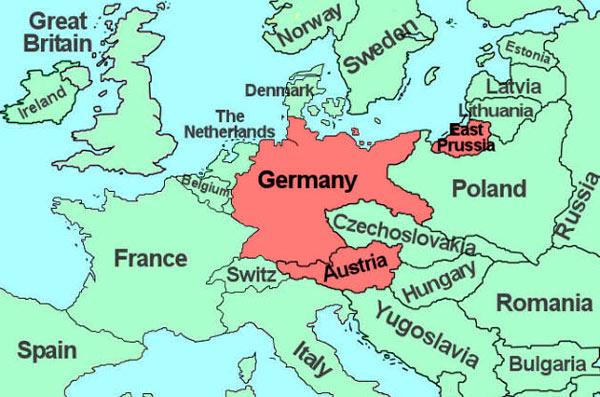 Территория германии после присоединения к австрии