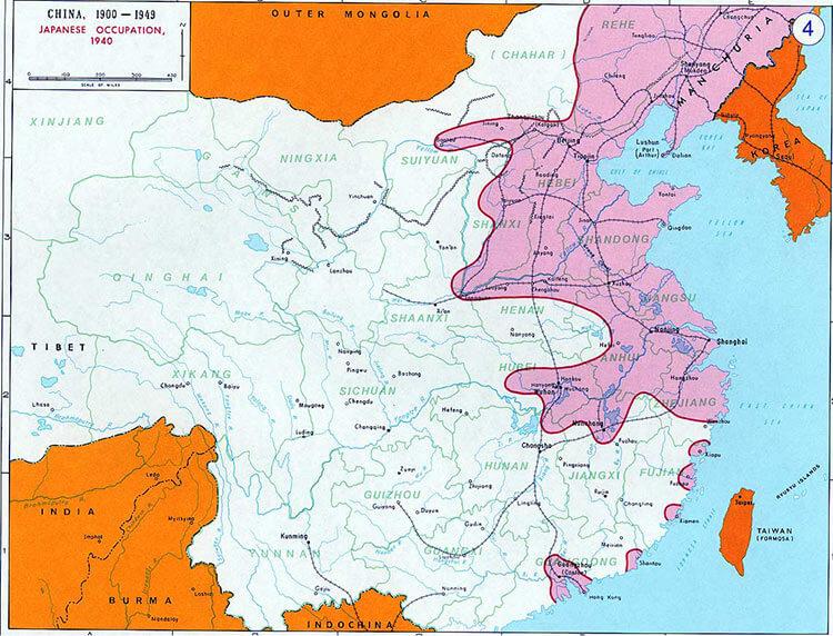 Японская оккупация Китая 1931 - карта