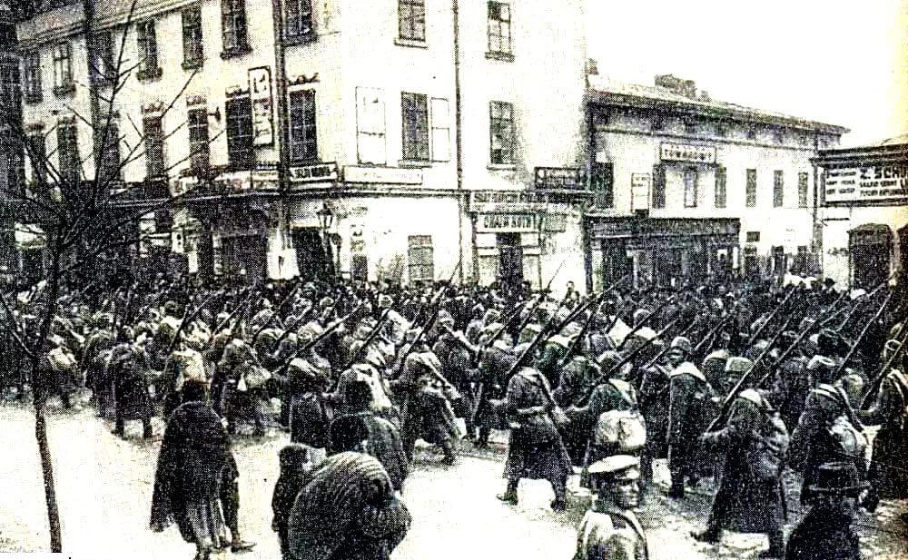 Красная армия во Львове в 1914 году