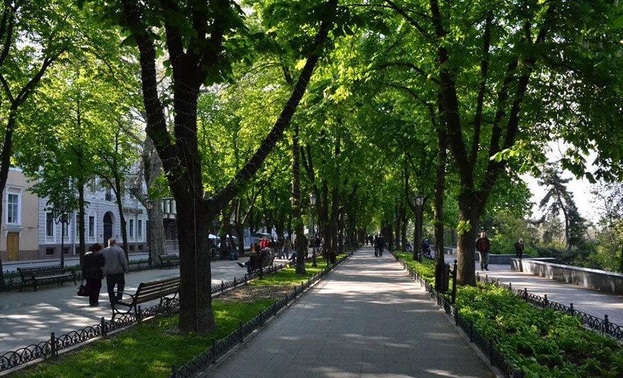 Приморский бульвар в городе Одесса