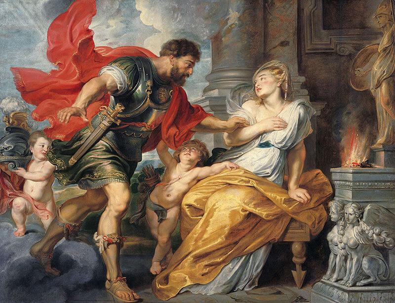 Царь Амулий забирает Ромула и Рема у Реи Сильвии