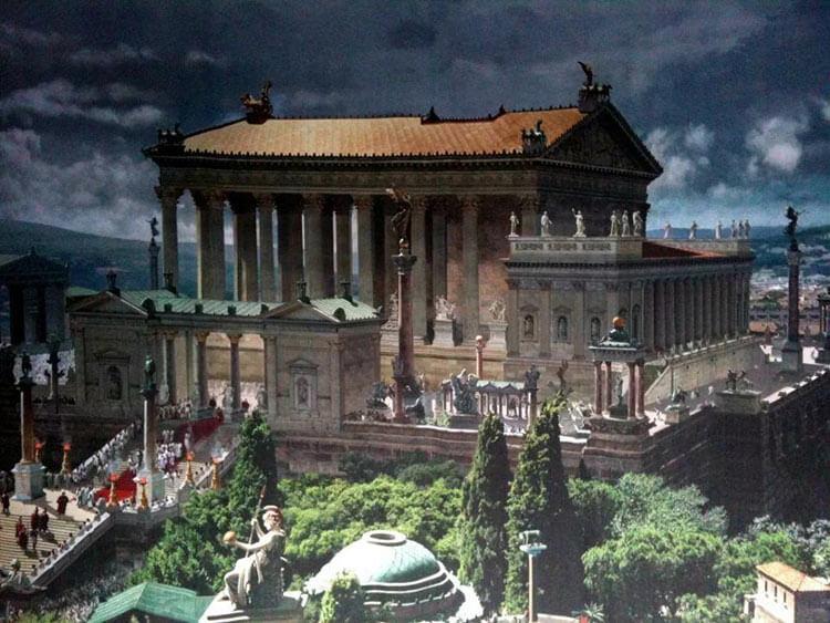 Достроенные храм Юпитера