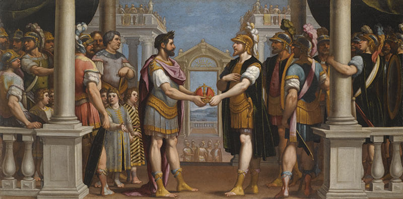Мирный договор между Титом Тацием и Ромулом
