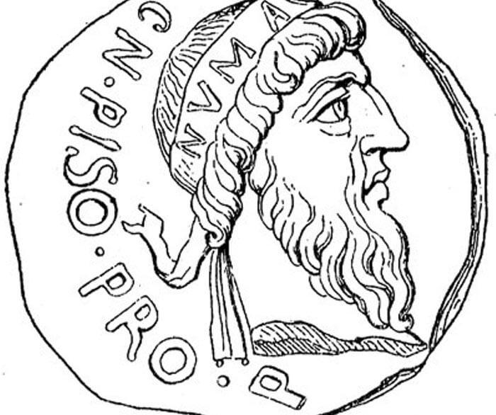 Монета с Нума Помпилием