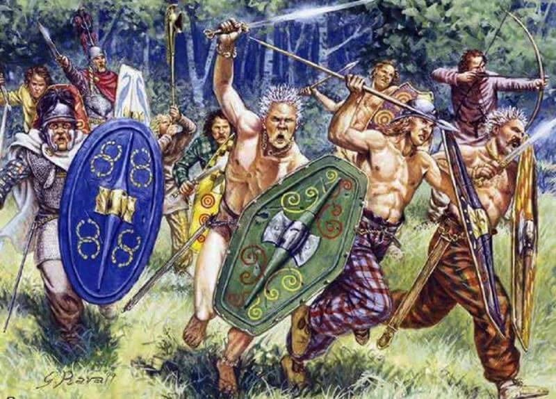 Нашествие галлов на древний Рим - рисунок