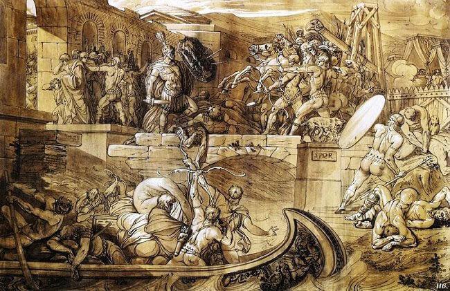 Осада Рима этрусками по указанию Тарквиния Гордого