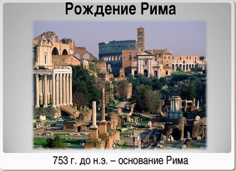 Основание Рима - дата