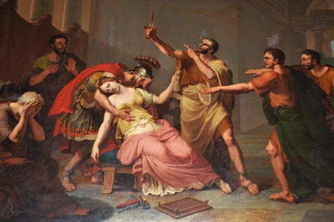 Самоубийство после изнасилования Лукреции Секстом Тарквинием