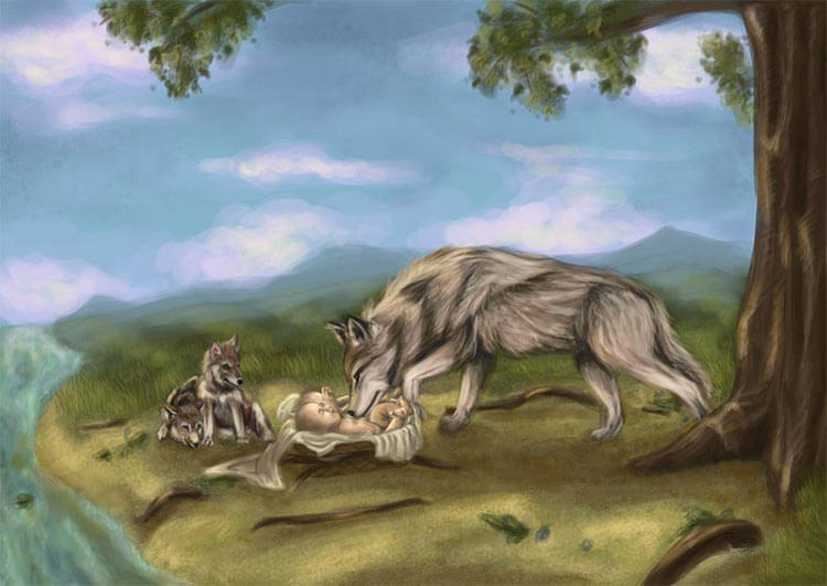 Волчица находит Ромула и Рема