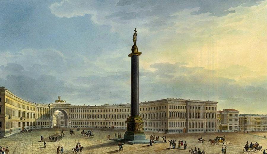 Александровская колонна 1834 год