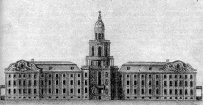 Кунсткамера 1714 - рисунок