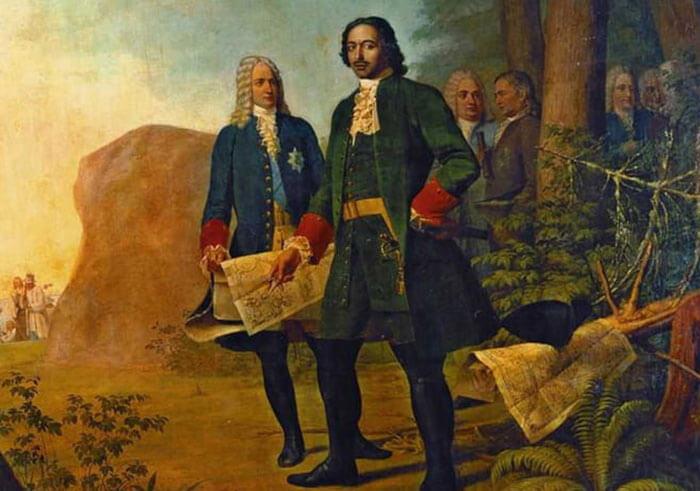 Меншиков и Петр 1