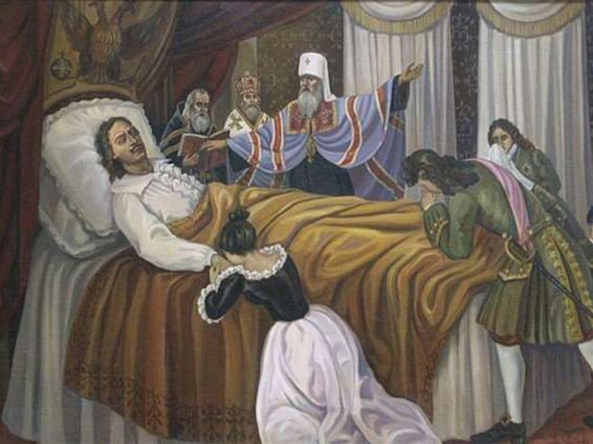 Петр 1 на смертном одре