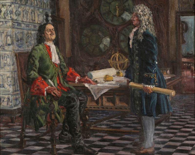 Петр I отчитывает Меншикова за воровство